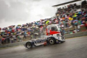 Detalle del camión de Antonio Albacete el domingo
